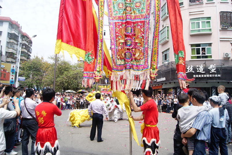 Shenzhen China: The Lion Dance Activities Editorial Image