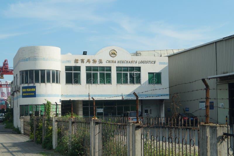 Shenzhen, China: Logistikunternehmen lizenzfreie stockbilder
