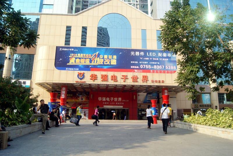 Shenzhen, China: mercado electrónico del huaqiang foto de archivo