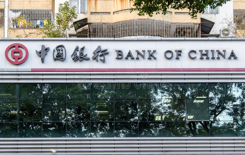 branch of Bank of China in the city of Shenzhen, China. stock photos