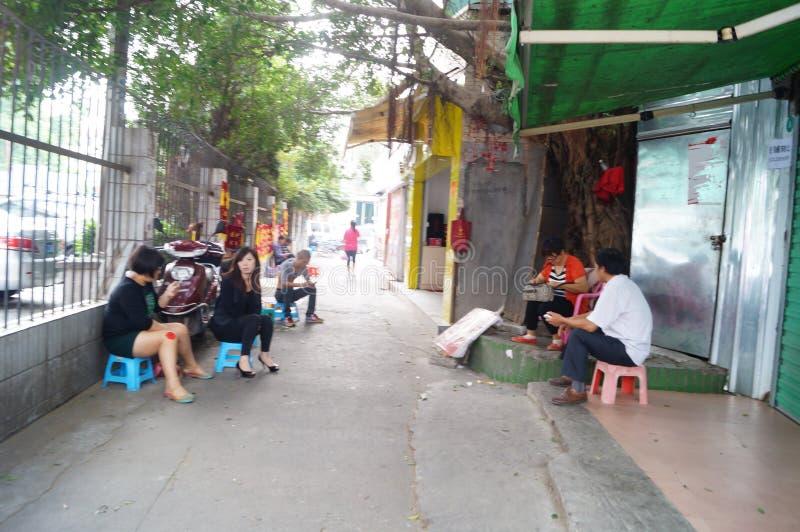 Shenzhen, China: paisagem da rua fotografia de stock royalty free