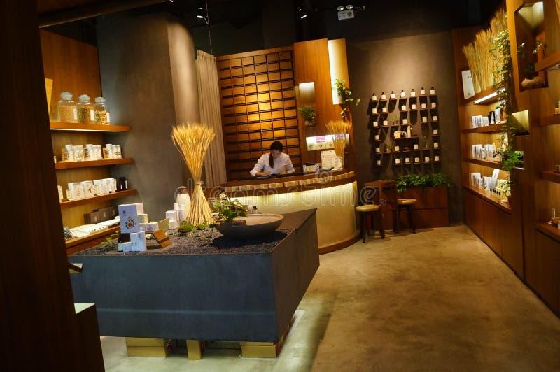 Shenzhen, China: Paisagem do interior da loja imagens de stock royalty free