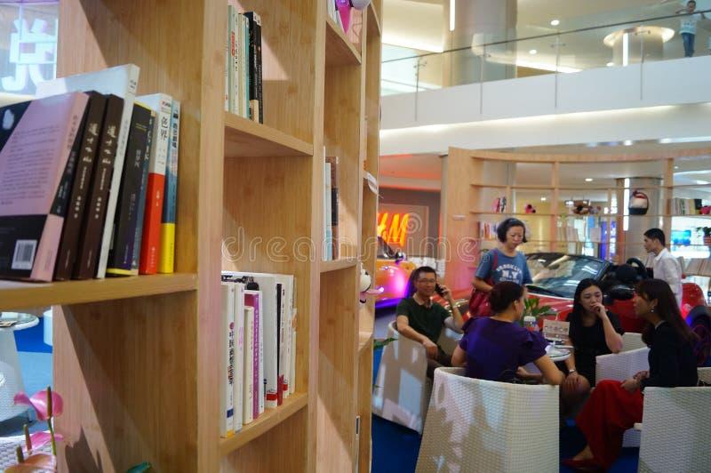 Shenzhen, China: Salón de la lectura del libro fotos de archivo