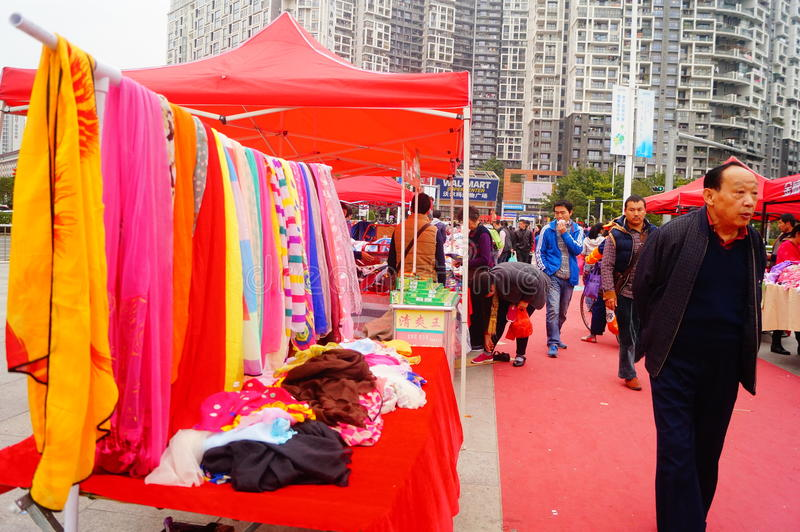 Shenzhen, China: special purchases for the Spring Festival Expo royalty free stock photo