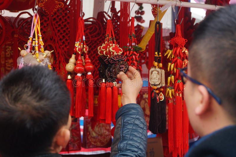 Shenzhen, China: special purchases for the Spring Festival Expo stock photos
