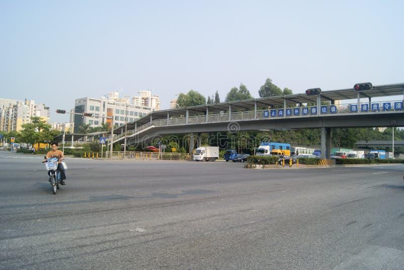 Shenzhen, China: stadsverkeer royalty-vrije stock fotografie