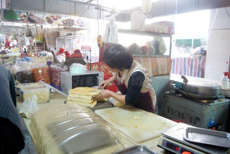 Shenzhen, China: tienda de la crepe fotos de archivo libres de regalías