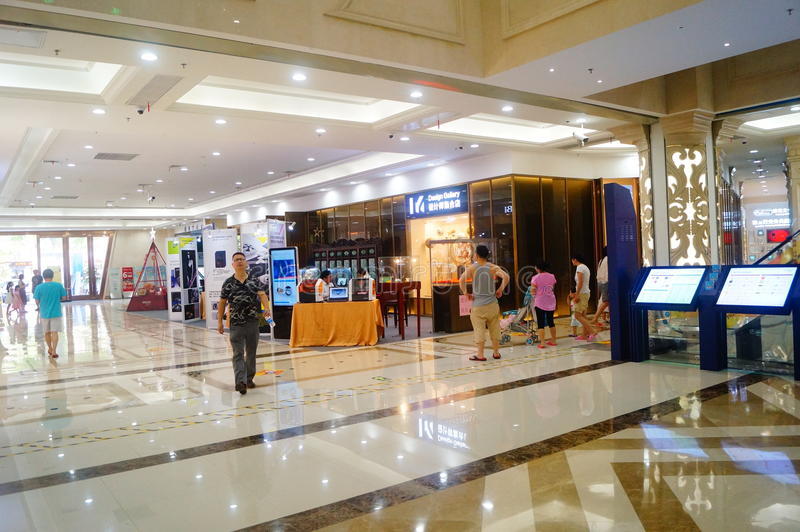 Shenzhen, China: Treasure cube Jewelry Trading Plaza. Baoan District Shenzhen, treasure cube Jewelry Trading Plaza interior landscape royalty free stock photo