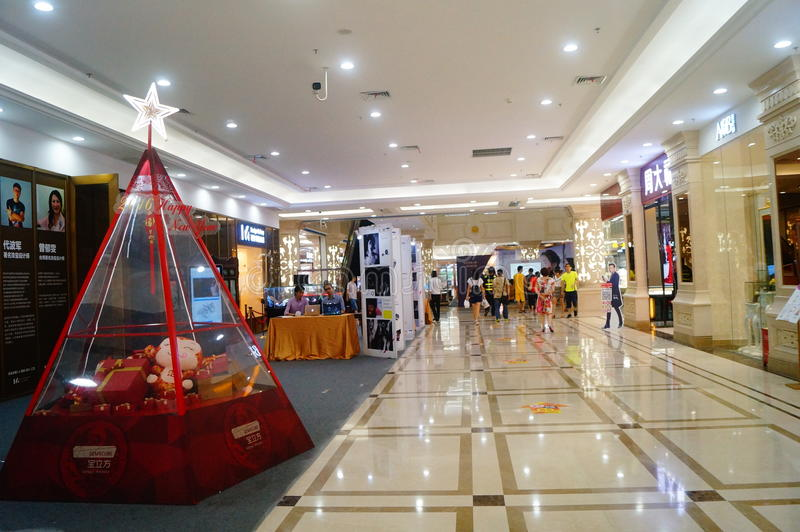 Shenzhen, China: Treasure cube Jewelry Trading Plaza. Baoan District Shenzhen, treasure cube Jewelry Trading Plaza interior landscape stock images