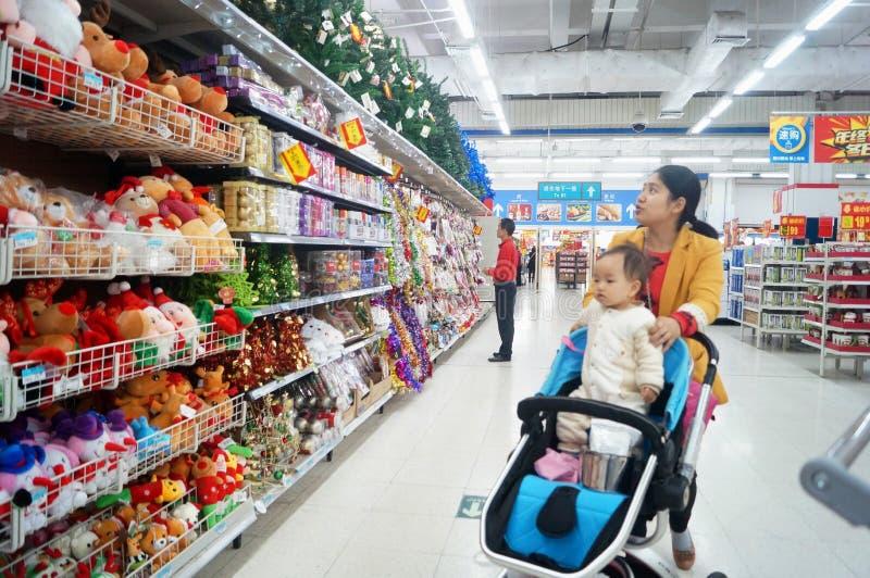Shenzhen, China: Wal-Mart royalty-vrije stock afbeeldingen