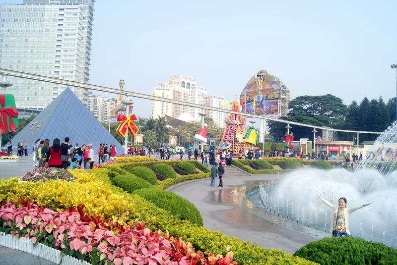 Shenzhen China Window On The World Tourist Attractions Editorial