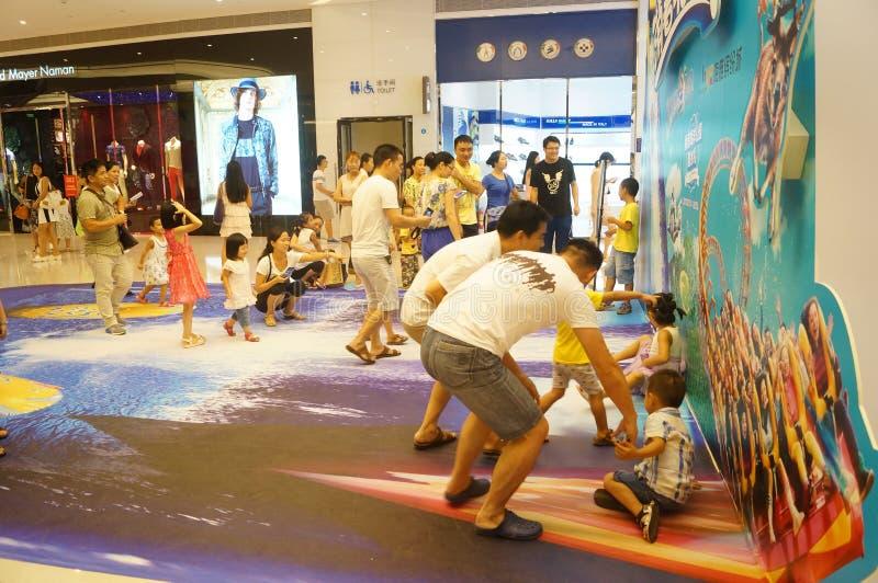 Shenzhen, Chine : activité d'enfant de parent photo stock