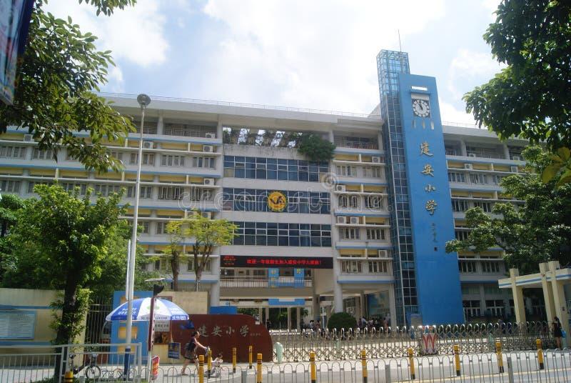 Shenzhen, Chine : Campus d'école primaire photos stock