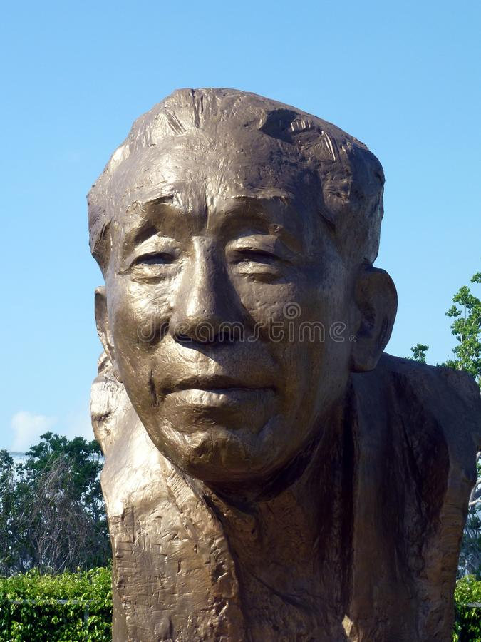 Shenzhen, Chine : La statue de Yuan Geng se tient en parc de talent de Shenzhen photo stock