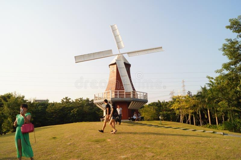 Shenzhen, Chine : Paysage de Holland Flower Town photographie stock
