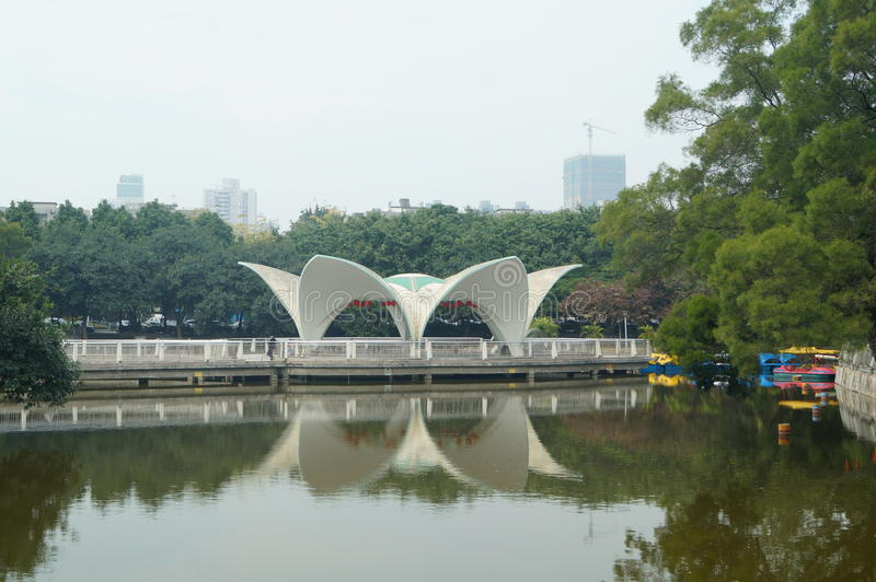 Shenzhen, Chine : Paysage de pavillon de parc photos libres de droits