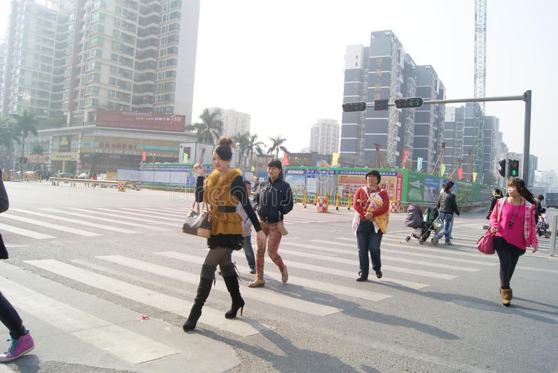 Download Shenzhen, Chinese: Street Landscape Editorial Stock Image - Image: 41900459