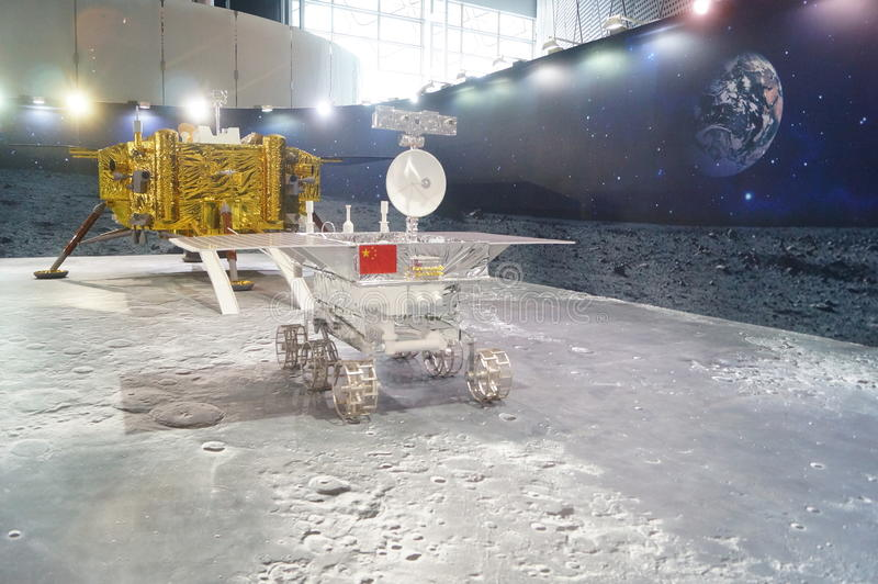Shenzhen, Chiny: Chińskie Księżycowe eksploracja programa nauki świadomości tygodnia aktywność zdjęcie stock