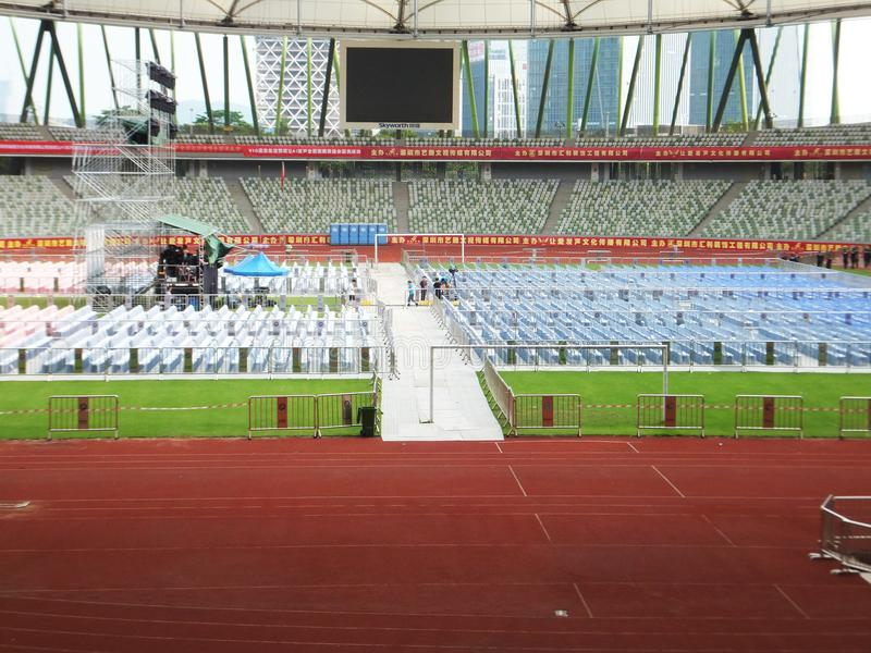 Shenzhen, Chiny: duży koncert trzyma w stadium obrazy stock