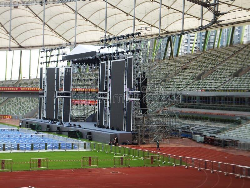 Shenzhen, Chiny: duży koncert trzyma w stadium obraz stock