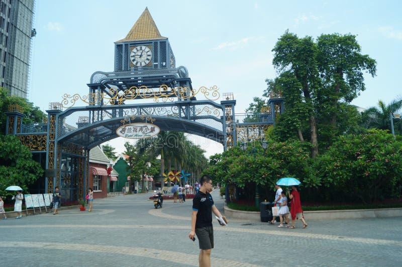 Shenzhen, Chiny: Holandia kwiatu Grodzki Sceniczny teren obrazy royalty free