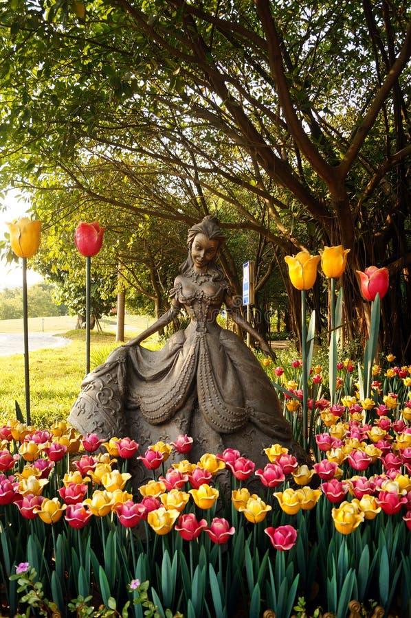 Shenzhen, Chiny: Holandia kwiatu miasteczka sceneria obrazy royalty free