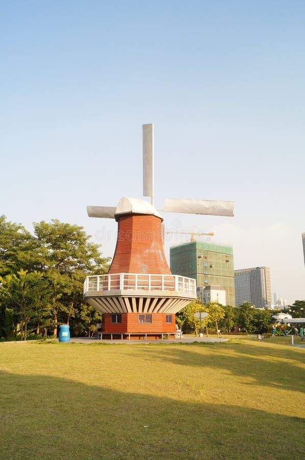 Shenzhen, Chiny: Holandia kwiatu miasteczka sceneria fotografia stock