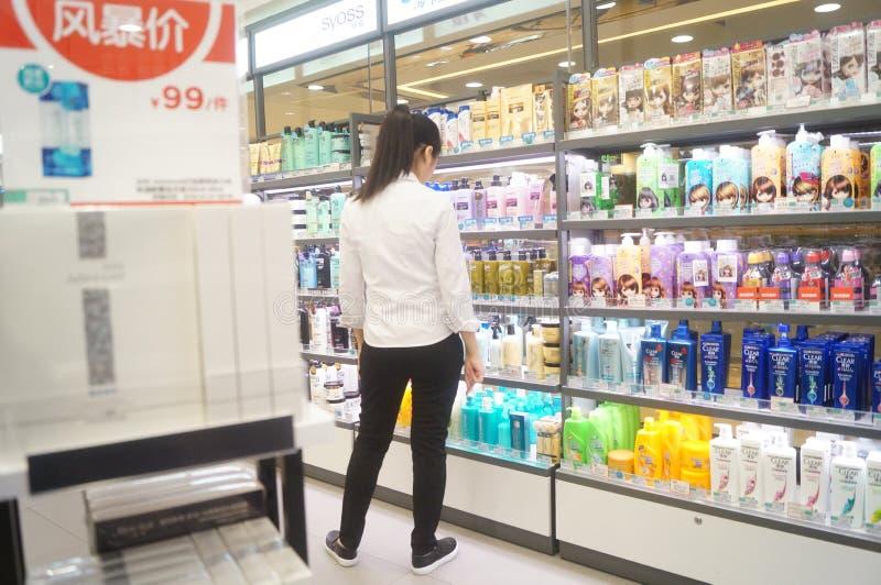 Shenzhen, Chiny: Hongkong towarów supermarket obrazy stock