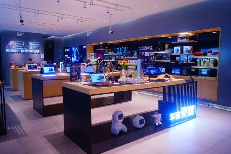 Shenzhen, Cina: centro commerciale di vendite del computer portatile fotografia stock libera da diritti