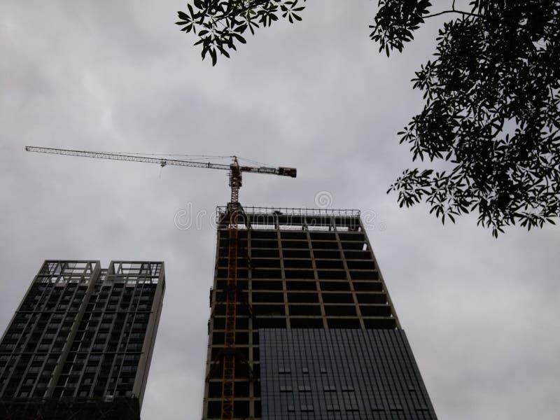 Shenzhen, Cina: edifici residenziali nell'ambito di nuova costruzione fotografie stock