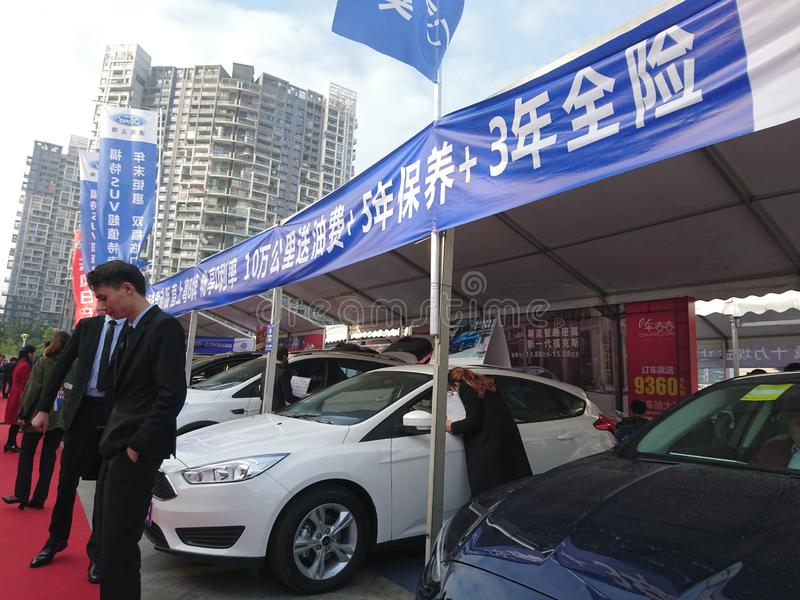 Shenzhen, Cina: Mostra internazionale dell'automobile di ovest 2018 immagine stock