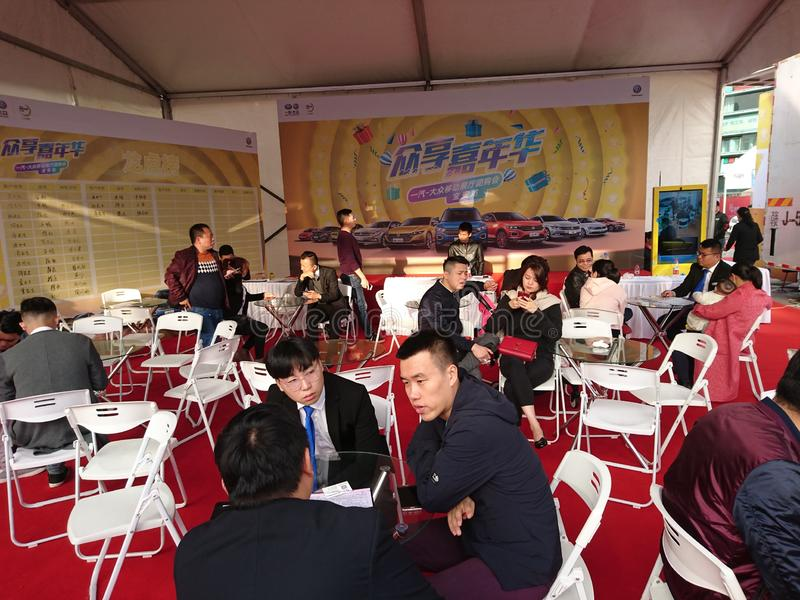 Shenzhen, Cina: Mostra internazionale dell'automobile di ovest 2018 fotografia stock