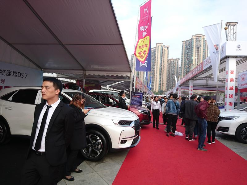 Shenzhen, Cina: Mostra internazionale dell'automobile di ovest 2018 fotografia stock libera da diritti