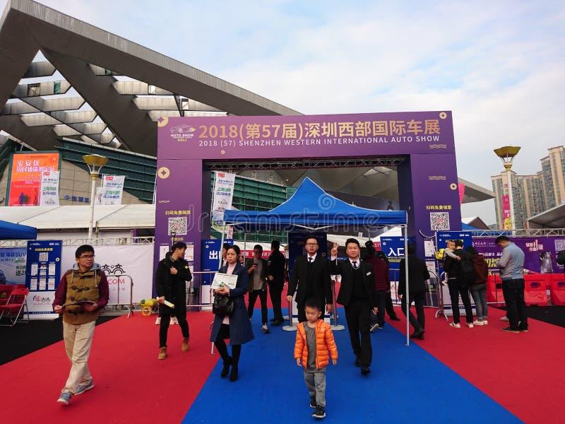 Shenzhen, Cina: Mostra internazionale dell'automobile di ovest 2018 immagini stock