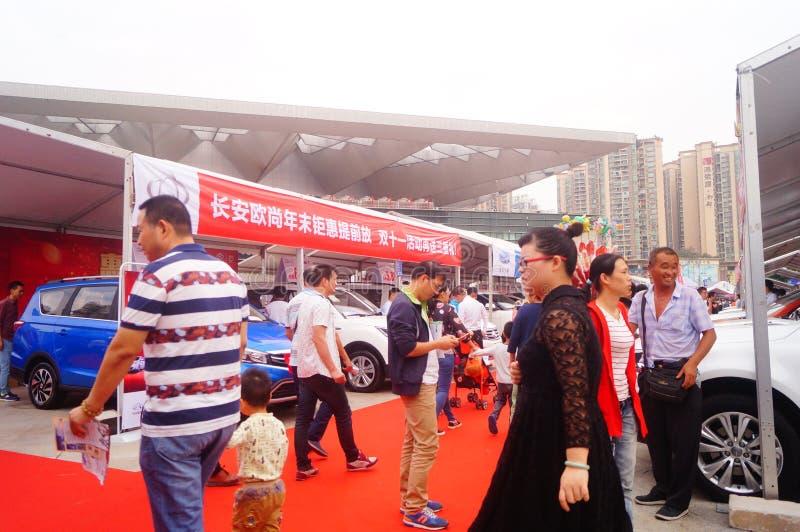 Shenzhen, Cina: vendite automatiche di mostra fotografie stock libere da diritti