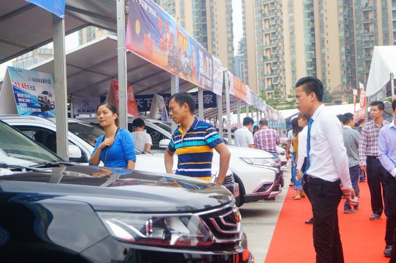 Shenzhen, Cina: vendite automatiche di mostra immagini stock
