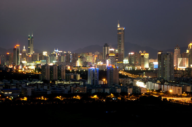 Download Shenzhen City - Night Scenery Stock Image - Image: 5996507