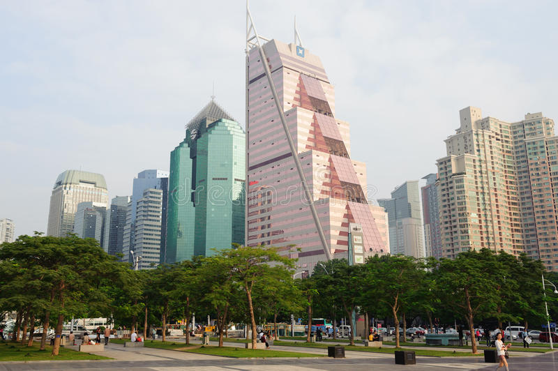 ShenZhen downtown skyscrapers royalty free stock images