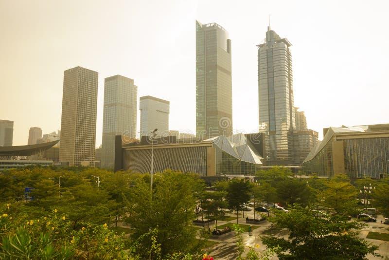 Shenzhen du centre photo stock