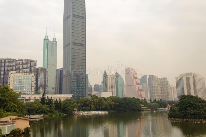 Shenzhen du centre photo libre de droits