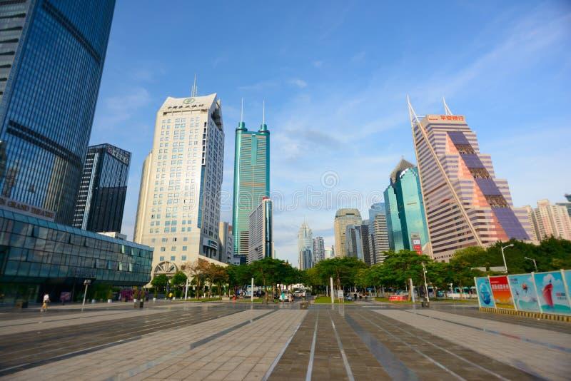 Shenzhen du centre photographie stock