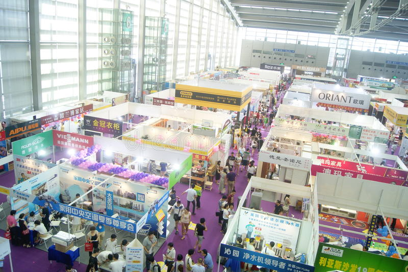 Download Shenzhen Home Decoration Building Materials Expo Landscape, In  China Editorial Stock Image   Image