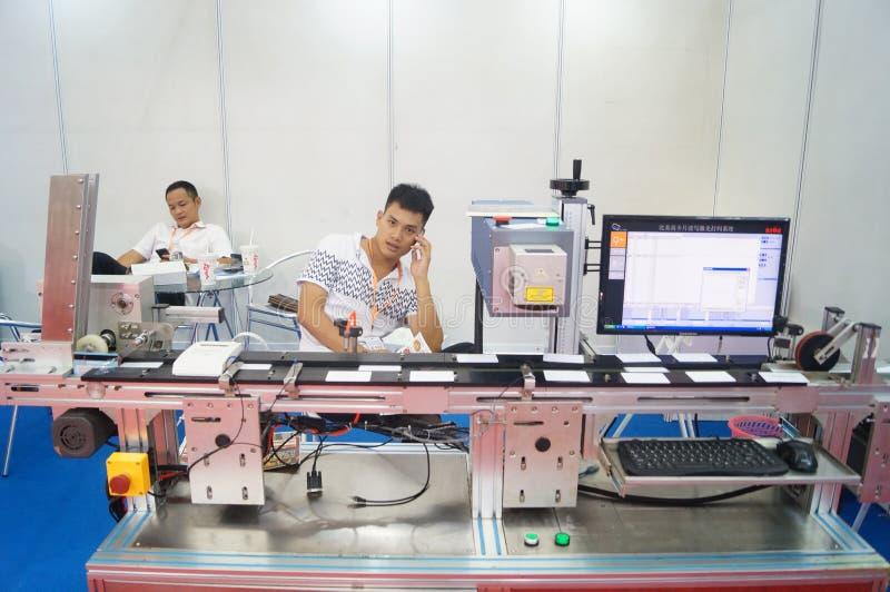 Shenzhen internationaal Internet van dingen en de wijsheid van China Expo stock afbeeldingen