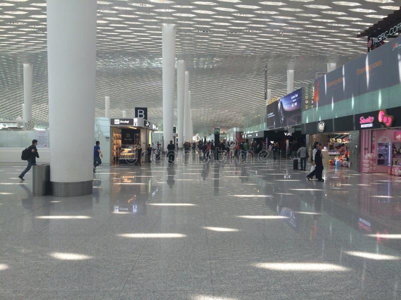 shenzhen internationell flygplats, Kina arkivbild