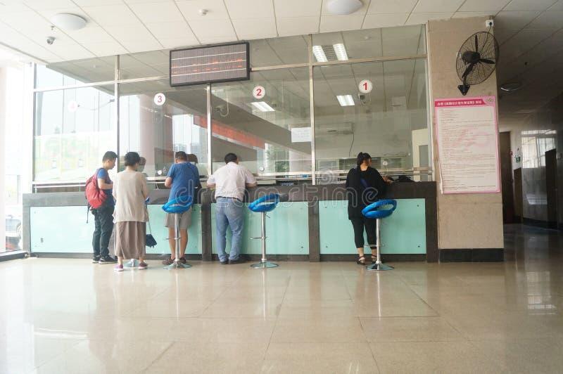 Shenzhen Kina: befolkning och familjeplaneringservicestation arkivfoto