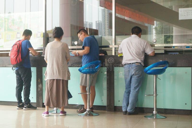 Shenzhen Kina: befolkning och familjeplaneringservicestation arkivbild