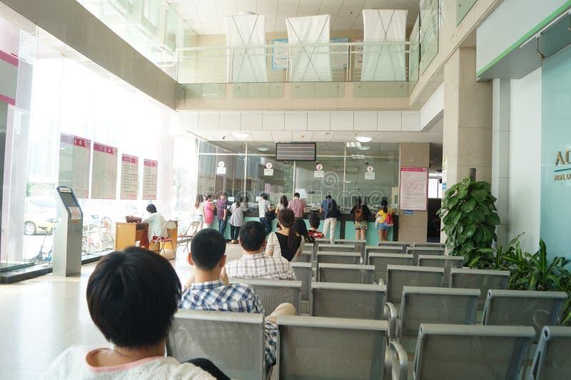 Shenzhen Kina: befolkning och familjeplaneringstation arkivfoto