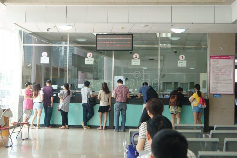 Shenzhen Kina: befolkning och familjeplaneringstation royaltyfri bild