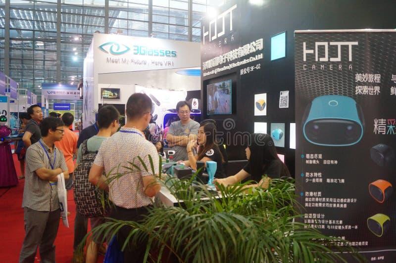Shenzhen Kina: internationell virtuell verklighet, holographic teknologiutställning royaltyfri foto