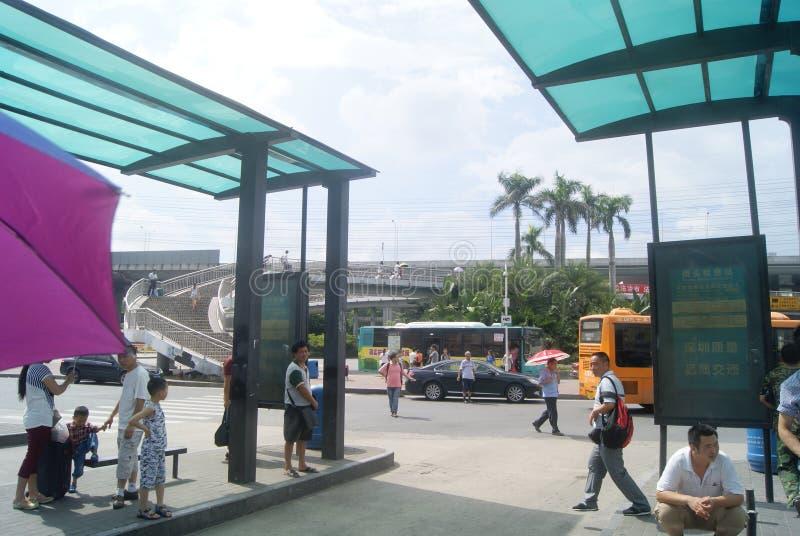 Shenzhen Kina: Station för överföring för Nantou testpunkt auto arkivbilder